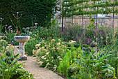 Garten mit Gemüse und Kräutern