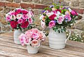 David Austin Wedding Roses, Rosen 'Kate', 'Miranda', 'Keira', 'Juliet', 'Princes Charlene', 'Paul Ricard' (Rosa)