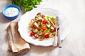 Moroccan Turkey with Minted Couscous