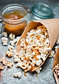 Popcorn with salted caramel