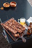 Schokoschnitten mit Erdnussbutter und Karamell