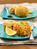 Crab cakes with hearts of palm