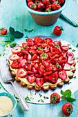Brown Sugar Strawberry Tart