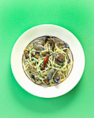 Spaghetti with chilli and clams