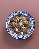 Date and lamb tagine with almonds