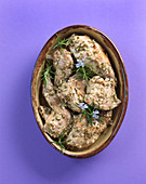 Braised rosemary rabbit
