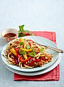 Thai mince noodles