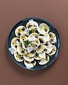 Pilz-Carpaccio mit Parmesan
