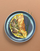 Austernpilz-Omelett