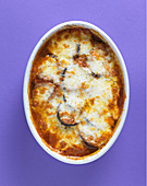 Aubergine gratin with mozzarella
