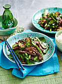 Stir-Fried Beef and Gai Lan