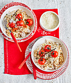 Chicken Risotto with cherry tomatoes