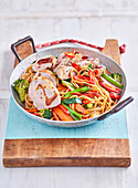 Sesame-crusted Pork and Noodles
