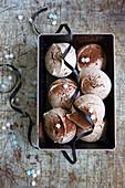 Schokoladen-Baisers mit Zuckersternchen