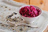 Lacto-fermented red cabbage