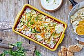 Linsensalat mit Blumenkohl und Zucchini (Indien)