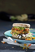 Falafel burger with chutney
