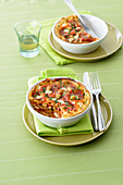 Carasau Bread Lasagne with Chickpea and Bacon Sauce