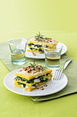 Polenta Lasagne with Spinach and Hazelnuts