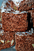 Berliner Brot (gingerbread and hazelnut Christmas cake), stacked