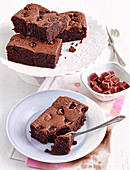Flourless turkish delight brownies