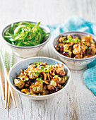 Sticky Asian cauliflower and cashew nut stir-fry