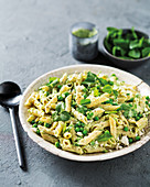 Pea and ricotta penne