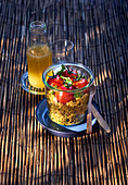Curry bulgur with tomatoes