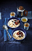 Scotch whisky porridge with poach plums