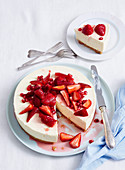 Citrus Yoghurt Cheesecake with Fruit Compote