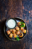 Mini masala sausage rolls