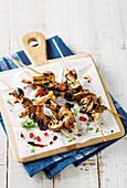 Asian Mushroom kebabs