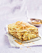 Pesach white chocolate stack