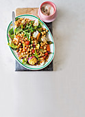 Roast vegetable chickpea salad