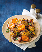 Moroccan chicken with peaches