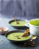 Pea and feta soup