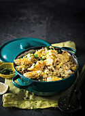 Indian fish breyani