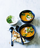 Goa red lentil and veg soup