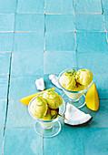 Mango and coconut sorbet