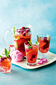 Raspberry Mint and Orange Iced Tea
