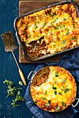 Australian lasagne an d Spaghetti bolognese frying pan lasagne