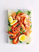 Seafood ice platter