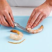 How to peel and devain prawns
