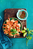 Coconut and peanut prawns (Thailand)