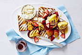 Christmas with Woman s Day - Christmas Day Brekkie - Chargrilled Necatrine Bruschetta