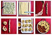 Käse-Kräuter-Schnecken zubereiten