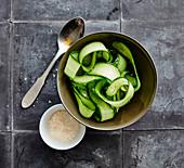 Gesalzene Zucchinischeiben