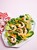 Butter poached prawn and citrus salad