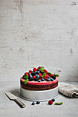 Raw berry mousse cake