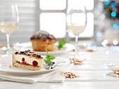 Christmas Pudding und Käsekuchen zu Weihnachten